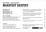 back side of invite for 'Manifest Destiny' at Extra City