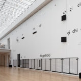 Installation view of Cevdet Erek, chiçiçiçichiciçi, 2019, Art Institute of Chicago. © Cevdet Erek